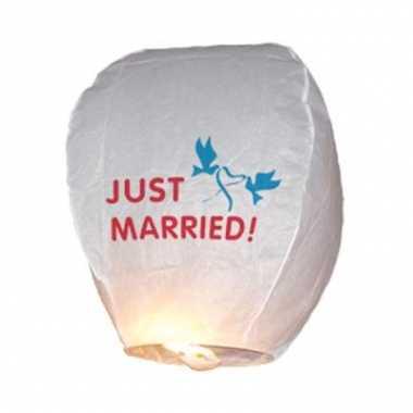 Just married wens lantaarn papier