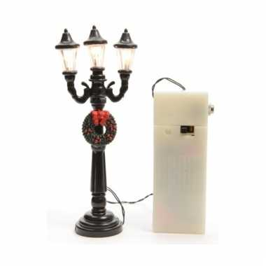 Kerstdorp lantaarn met 3 lampen