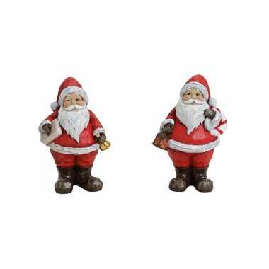 Kerstman met lantaarn 15 cm