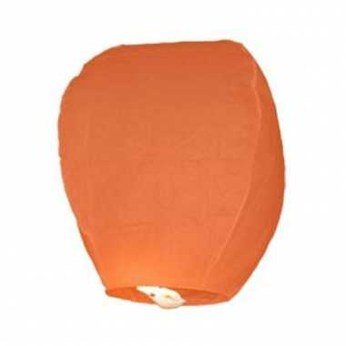 Oranje wens lantaarn 48 cm