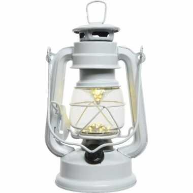 Witte led licht stormlantaarn 25 cm