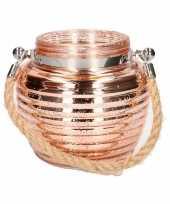 Home deco windlicht lantaarn koper 13 cm